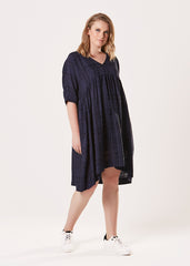 Temple Dress - Navy