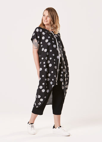 Mara Dress - Black Pearl Spot