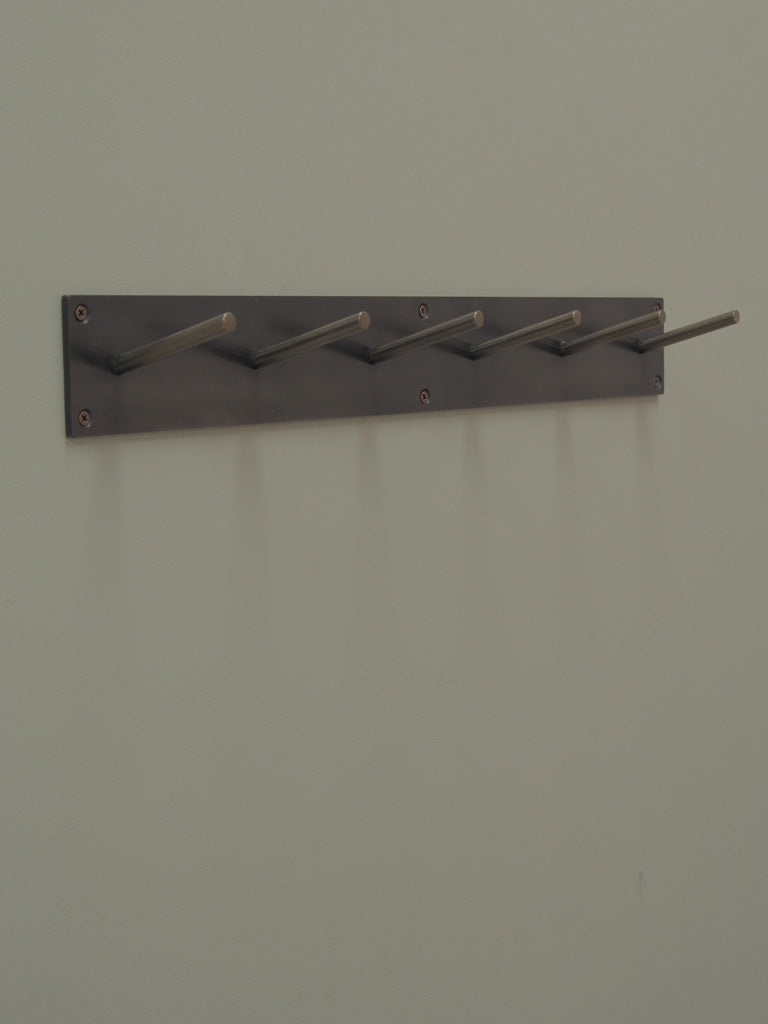 Blackened Steel Coat Rack