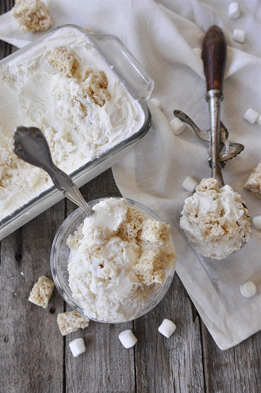 Marshmallow Rice Krispie Treat Ice Cream Recipe