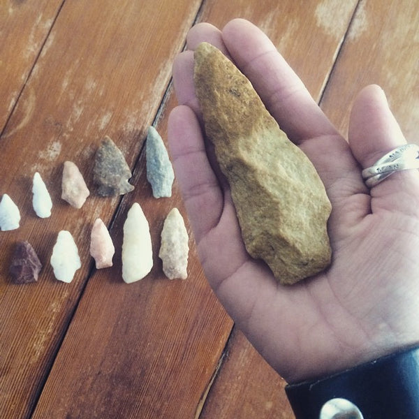 Traditions and Discoveries at the River House - arrowheads