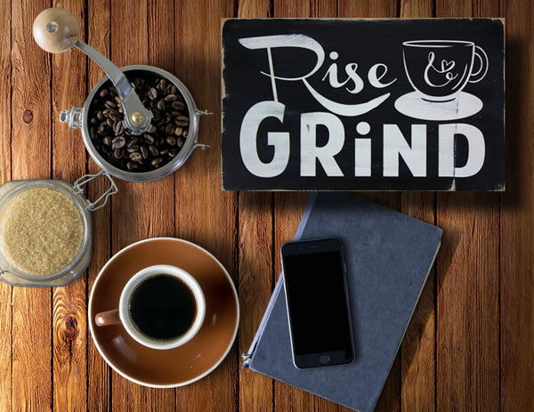 Gifts for Your Wedding Party - Rise and Grind Sign for your Groomsmen