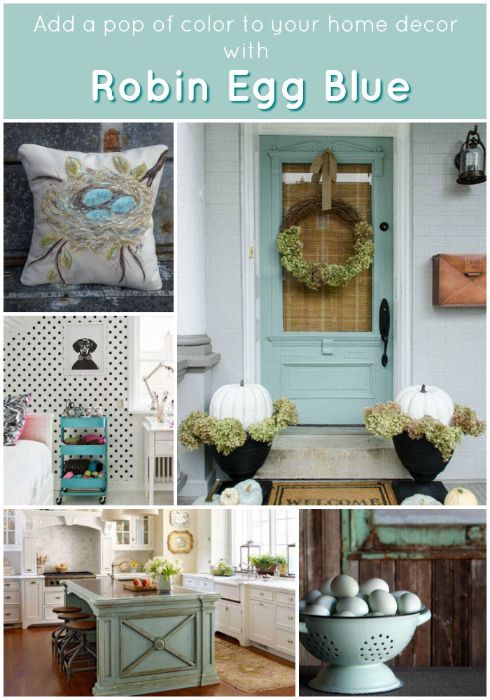 decorating with robin egg blue