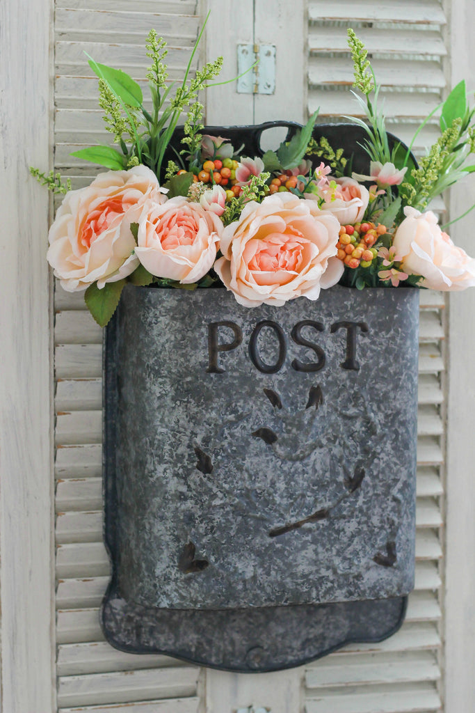 Vintage Inspired Post Box Flower Arrangement - Barn Owl Primitives