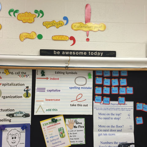 be awesome today classroom chalkboard