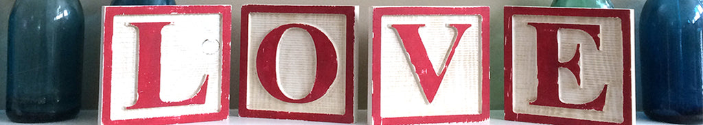 Barn Owl Primitives Wooden Love Alphabet Blocks