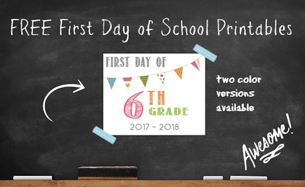 Back To School 2017 Free Printable