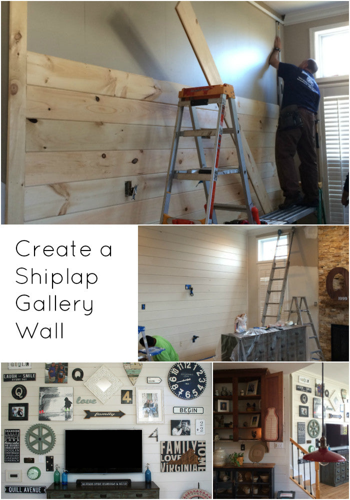 Create a one of a kind shiplap gallery wall with our tips and inspirational ideas