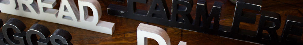 solid wood word wall decor