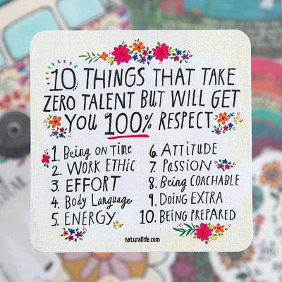 10 Things Sticker