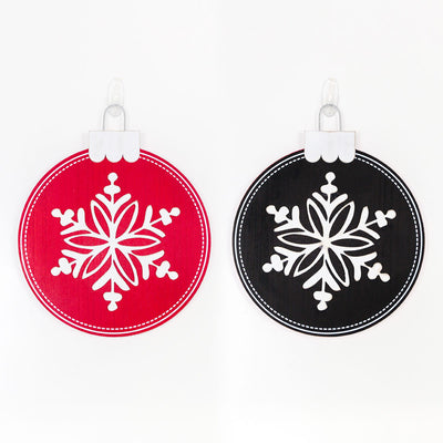 Reversible Christmas Ornament Sign