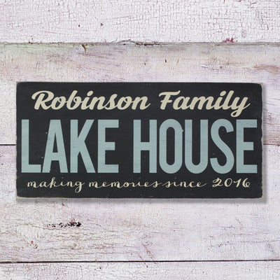 custom - lake house, sign, - Barn Owl Primitives, vintage wood signs, typography decor,
