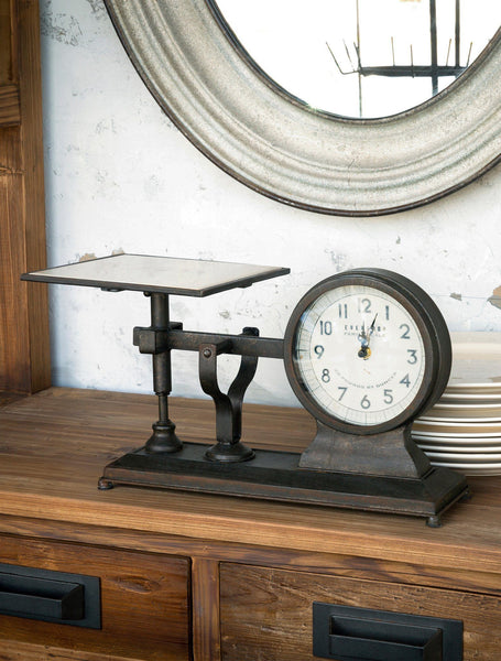Decorative Hardware Scale Clock, clock, Barn Owl Primitives, home decor, vintage inspired decor