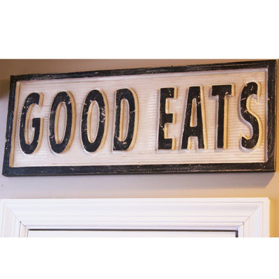 good eats, sign, Barn Owl Primitives, home decor, vintage inspired decor