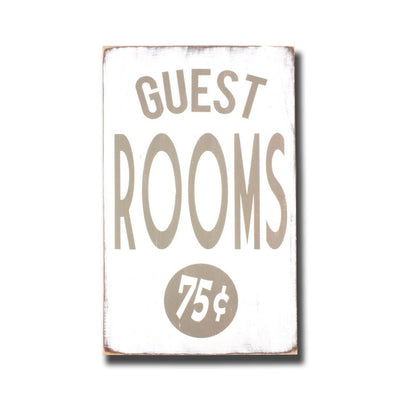 guest rooms 75 cents, sign, Barn Owl Primitives, home decor, vintage inspired decor