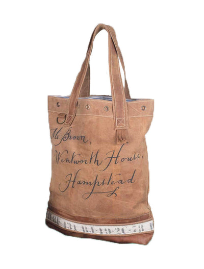 Hampstead Tote, tote bag, - Barn Owl Primitives, vintage wood signs, typography decor,