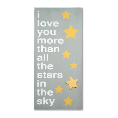 i love you more than all the stars, sign, - Barn Owl Primitives, vintage wood signs, typography decor,