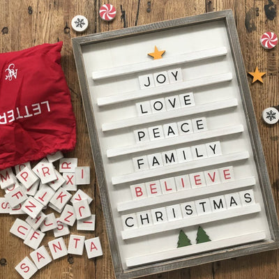 Christmas Bundle of Shapes for Letter Boards