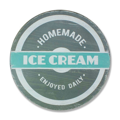 homemade ice cream enjoyed daily, sign, - Barn Owl Primitives, vintage wood signs, typography decor,