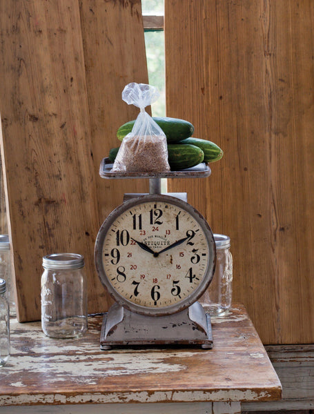 Grocery Scale Clock, clock, Barn Owl Primitives, home decor, vintage inspired decor