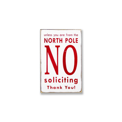 christmas no soliciting