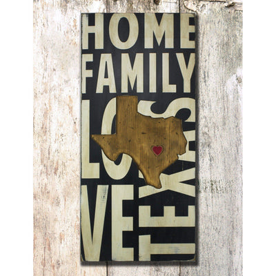 Where we love is Home state sign. state design is recessed into the hand painted board, leaving only a raised small heart to represent where your heart lives. handmade by Barn Owl Primitives this one of a kind design is available for all all fifty states.
