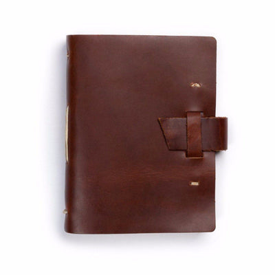 The Capture Life Leather Journal (buckle) - Saddle