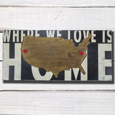 U.S.A. Where We Love Is Home - Barn Owl Primitives  - 2