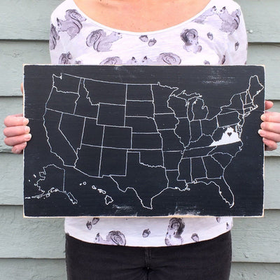 USA Painted Outline Map - Pick Your State