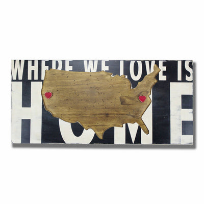 U.S.A. Where We Love Is Home - Barn Owl Primitives  - 1