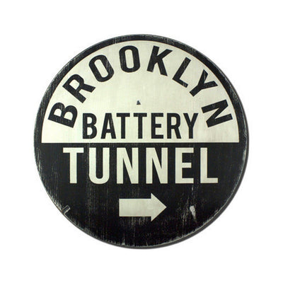 brooklyn battery tunnel, sign, Barn Owl Primitives, home decor, vintage inspired decor