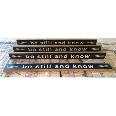 be still and know, sign, - Barn Owl Primitives, vintage wood signs, typography decor,