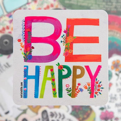 Be Happy Colorful Sticker