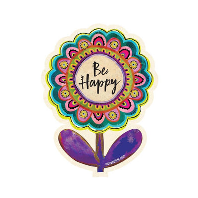 Be Happy Flower Sticker