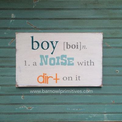 boy definition sign