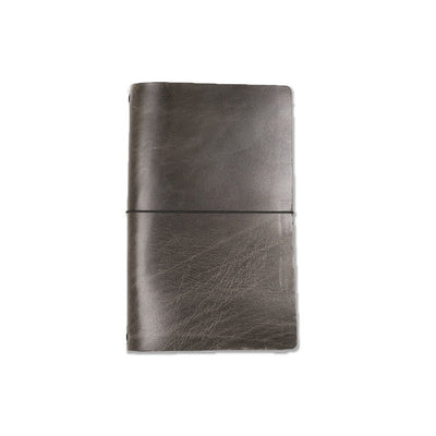 Expedition Leather Notebook - Charcoal