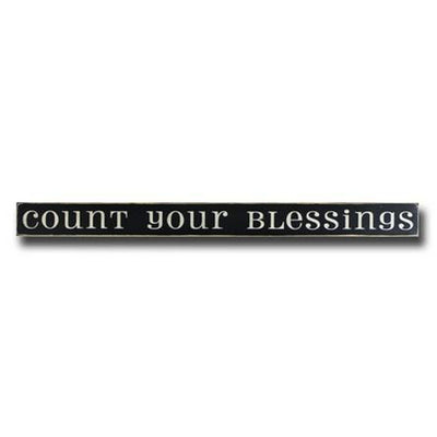 count your blessings, sign, Barn Owl Primitives, home decor, vintage inspired decor