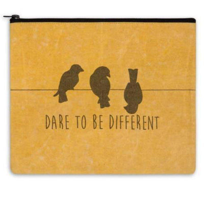 dare to be different travel bag, tote bag, Barn Owl Primitives, home decor, vintage inspired decor