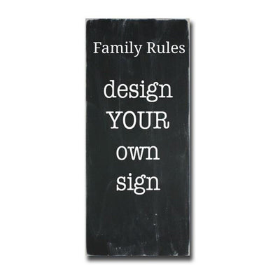 design your own family rules sign, sign, - Barn Owl Primitives, vintage wood signs, typography decor,
