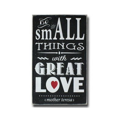 do small things with great love, sign, Barn Owl Primitives, home decor, vintage inspired decor