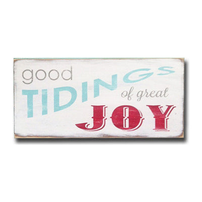 good tidings of great joy (1 available), sign, Barn Owl Primitives, home decor, vintage inspired decor