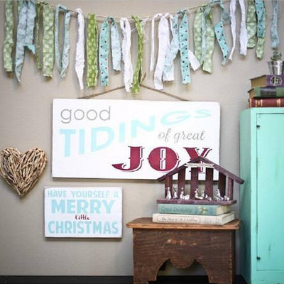 good tidings of great joy (1 available), sign, - Barn Owl Primitives, vintage wood signs, typography decor,