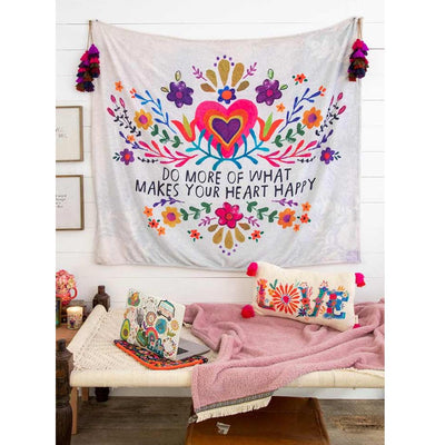 Happy Heart Tapestry Blanket