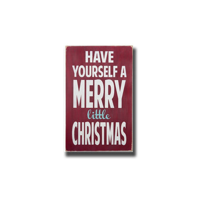 have yourself a merry little christmas, sign, - Barn Owl Primitives, vintage wood signs, typography decor,