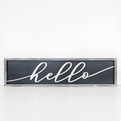 Hello Reversible Sign