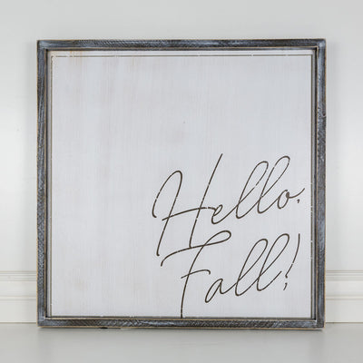 Hello Fall Reversible Sign