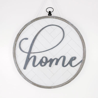 Home Round Reversible Sign