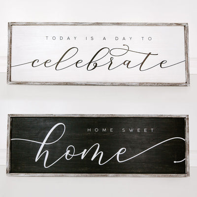 Home Sweet Home Reversible Sign