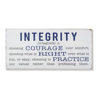 integrity definition sign - large, sign, Barn Owl Primitives, home decor, vintage inspired decor