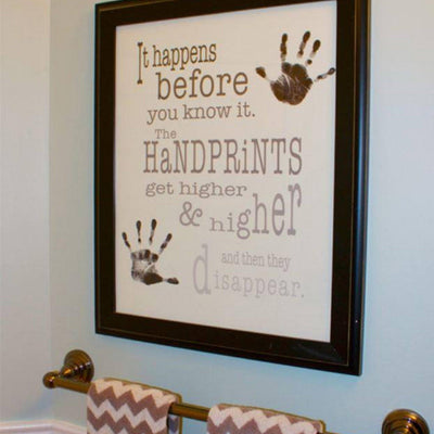 Handprints Poster - capture their handprints and be reminded with this keepsake that time with your children goes by quickly.  Enjoy the moments and remember their milestones - Barn Owl Primitives